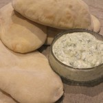 tzatziki with pitta